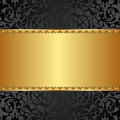 Golden background with abstract floral ornaments Royalty Free Stock Images