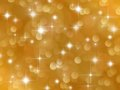 Golden background with boke effect and stars abstract Stock Photos