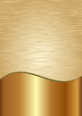 Golden background divided into two scratched and polished Royalty Free Stock Photos