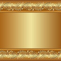 Golden background with floral ornaments Royalty Free Stock Image