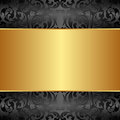 Golden background gold and black with ornaments Royalty Free Stock Photography