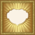 Golden background ornaments illustration Royalty Free Stock Photos