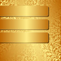 Golden background with ornaments illustration Stock Images