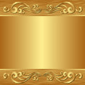 Golden background with ornaments vector illustration Royalty Free Stock Image