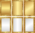 Golden backgrounds set of and silver Royalty Free Stock Photos