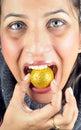 Golden ball Stock Image