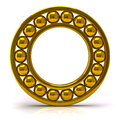 Golden ball bearing d illustration of Stock Photo