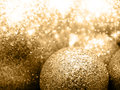 Golden balls a lot of christmas with stars and light Royalty Free Stock Images
