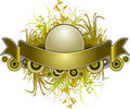 Golden Banner Royalty Free Stock Photo