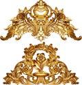 Golden baroque ornament design Royalty Free Stock Photo