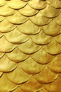 Golden bas relief stucco for background Royalty Free Stock Photo