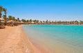 Golden beach in Hurghada, Egypt Royalty Free Stock Photo