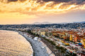 Golden Beach of Nice, France Royalty Free Stock Photo