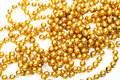 Golden beads new year decoration Royalty Free Stock Image