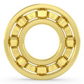 Golden bearing on white background high resolution d image rendered with soft shadows Stock Photography