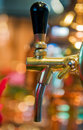 Golden beer tap Royalty Free Stock Photo