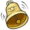 Golden Bell Royalty Free Stock Photos