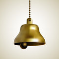 Golden bell on a chain Royalty Free Stock Photo