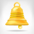 Golden Bell 3D Object Isolated...