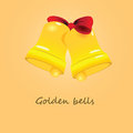 Golden bells Stock Images