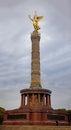 Golden berlin angel statue on the column in tiergarten germany Stock Photos