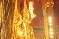 Golden bhudda in thai temple Stock Image
