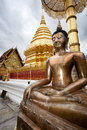 Golden big budha doi suithep chiang mai tahilandia Royalty Free Stock Images