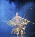 The golden bird through the clouds-delusion-Turkey belly dance-the Austria's world Dance Royalty Free Stock Photo