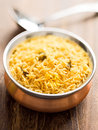 Golden biryani rice Stock Image