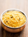 Golden biryani rice Stock Images
