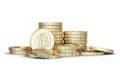Golden Bitcoin Royalty Free Stock Photo