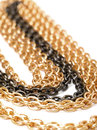 Golden and black chains Stock Photos