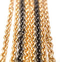 Golden and black chains Stock Images