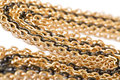 Golden and black chains Stock Photography