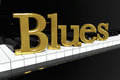 Golden Blues Sign Stock Image