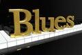 Golden Blues Sign