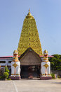 Golden bodh gaya thai in sangkhlaburi thailand Royalty Free Stock Photo