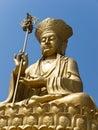 Golden Bodhisattva statue Stock Photography