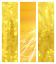 Golden bokeh banners Royalty Free Stock Photo