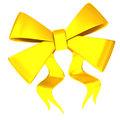 Golden bow 3d Stock Photo