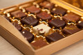 Golden Box of Fine Belgian Chocolates in Different Colors and Kinds
