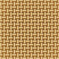 Golden Braided Pattern Stock Photo