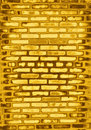 Golden brick wall Stock Image