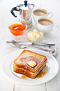 Golden brown french toast Royalty Free Stock Images