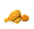 Golden brown fried chicken the Royalty Free Stock Photos
