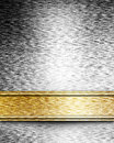 Golden brown parchment background with ribbon Stock Photo