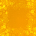 Golden bubbles abstract square backgraund with frame of circles on border in Stock Images