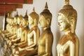 Golden Budas Stock Image
