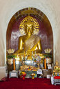 Golden buddha in arch. Royalty Free Stock Image