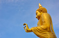 Golden Buddha Bless Royalty Free Stock Photo